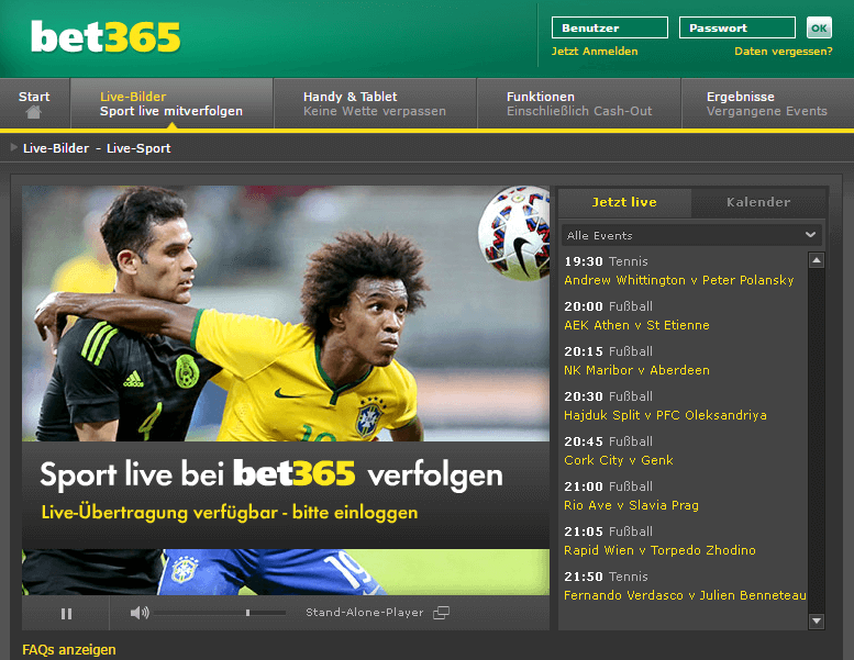 bet365 Live-Stream