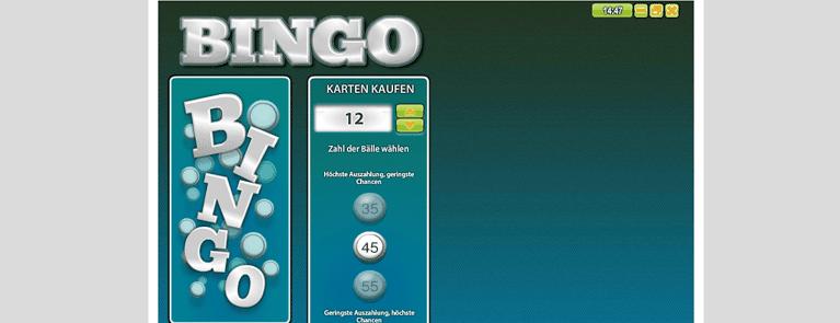 Die Bingo Spielkarte holen und spielend gewinnen
