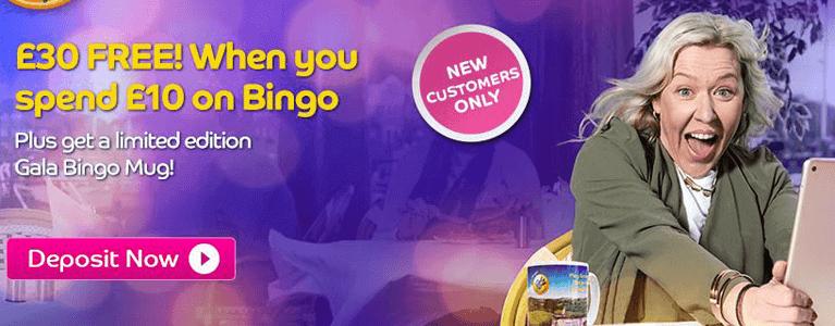 Neukundenbonus von Anbieter Gala Bingo