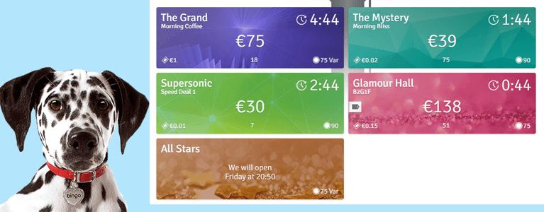 Die Bingo.com Startseite in übersichtlichem Look