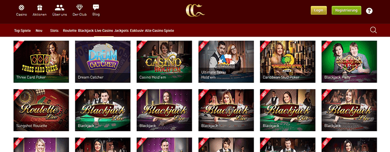 CasinoClub Live-Casino