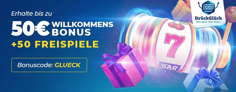 DrückGlück Casino Bonus für Neukunden
