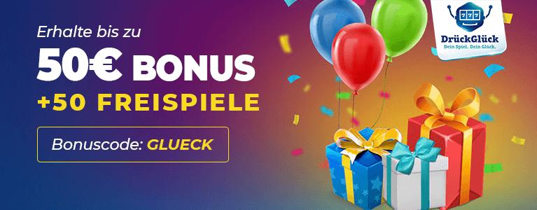 DrückGlück Casino Neukundenbonus
