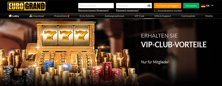 Eurogrand Casino VIP & Treueaktionen