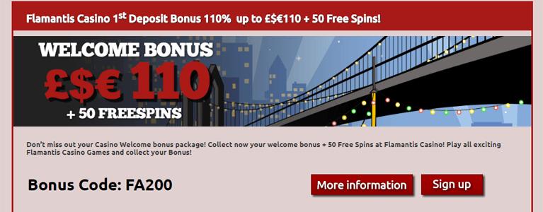 Flamantis Casino Bonus Codes