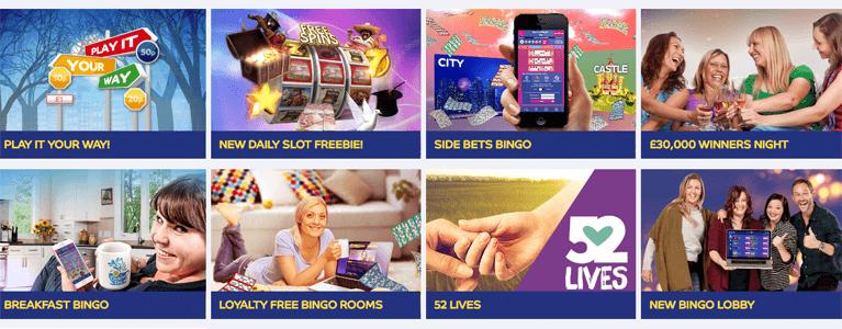 Gala Bingo bietet verschiedene Boni