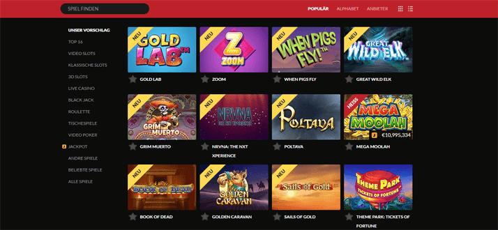 NetEnt Spiele und viele mehr im Guts Casino