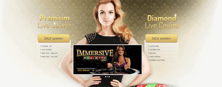 Im Live Casino von Interwetten können die beliebtesten Tischspiele gespielt werden