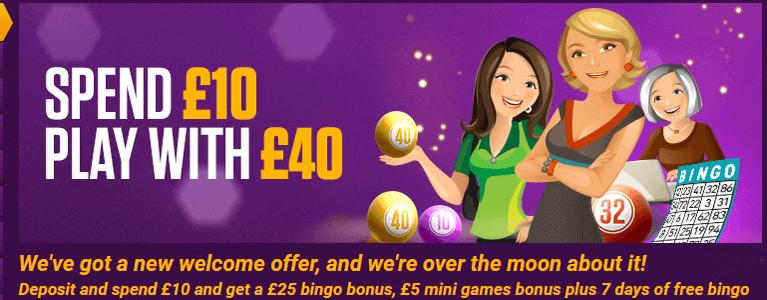 Bingo Bonus von Ladbrokes Bingo