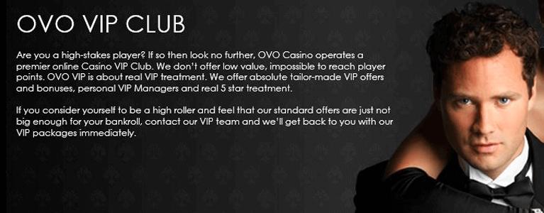 Ovo Casino VIP-Programm für Highroller