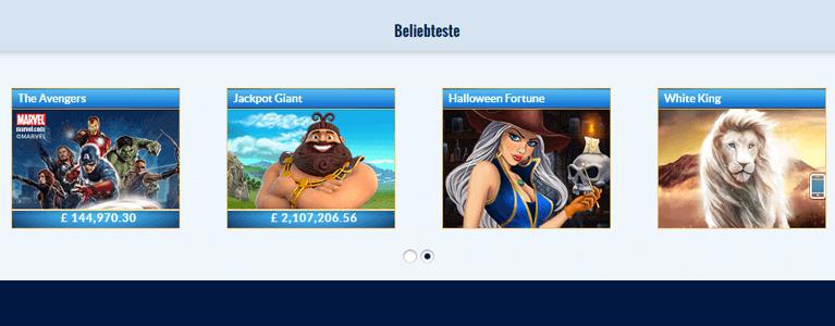 NetEnt Games und PlayTech Games sind im Prestige Casino vorhanden