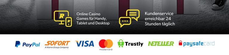 Rizk Casino Zahlungen mit PayPal