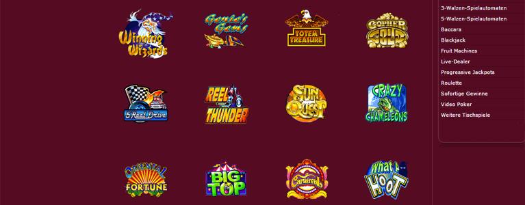 Über 450 verschiedene Games können die Spieler im Ruby Fortune Casino finden