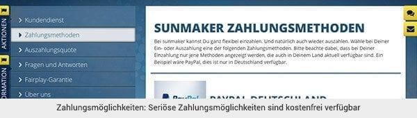 sunmaker auszahlung deutschland