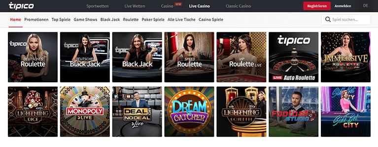 Tipico Casino Live Casino