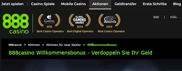 888 Casino Auszeichnungen