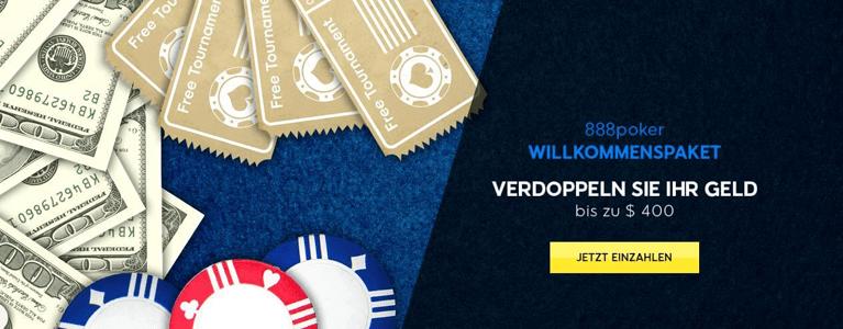 888Poker Willkommensbonus