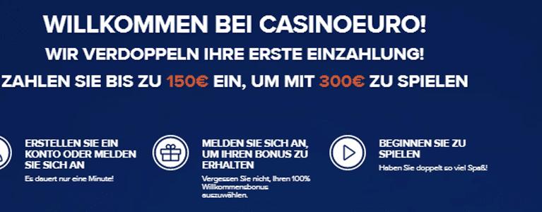 CasinoEuro Bonus ohne Einzahlung