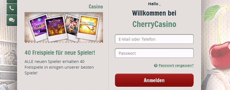 Cherry Casino Bonus ohne Einzahlung