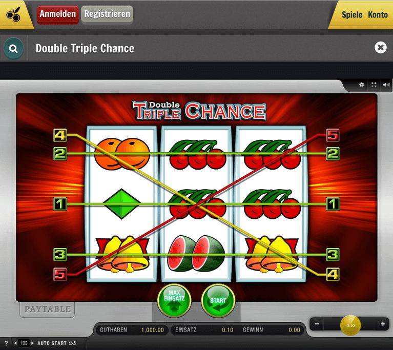 Spiele von Merkur bei Cherry Casino - Double Triple Chance ist eines von vielen
