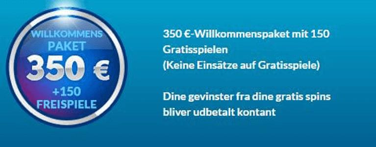 EU Casino Willkommensbonus nutzen und bis zu 350 Euro sichern