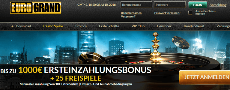 eurogrand roulette auszahlung