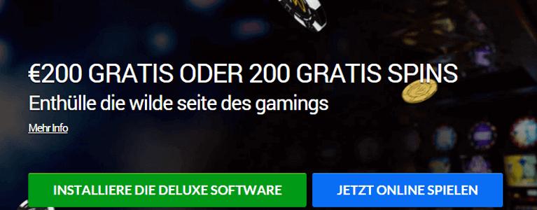 GoWild Casino Willkommensbonus: 200 Euro oder lieber 200 gratis Spins nutzen?