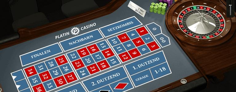 Platin Casino Limits bei Tischspielen