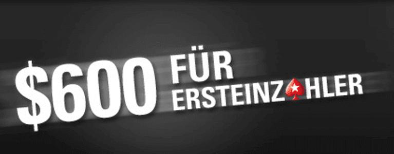 PokerStars Bonus für Neukunden nutzen und bis zu 600 Euro erhalten