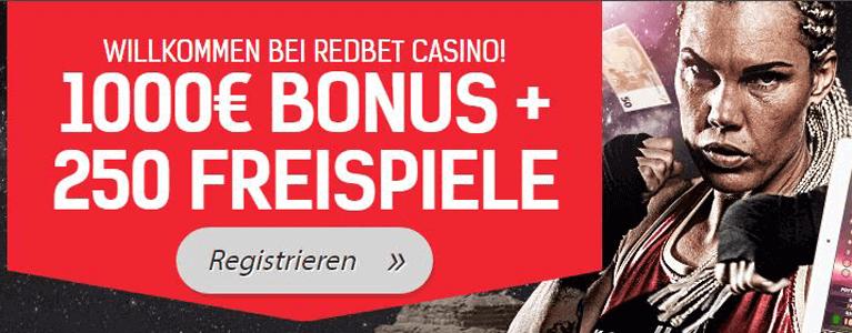 Redbet Casino Bonus für Neukunden nutzen