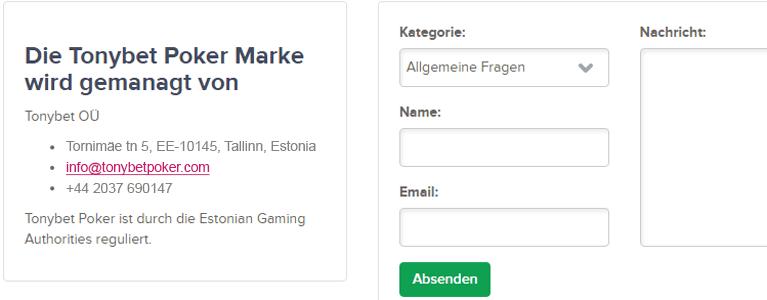 Kundensupport teilweise auf Deutsch