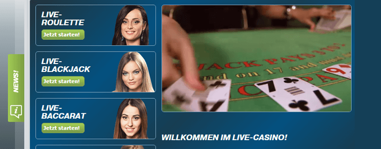Bet-at-home Live-Casino