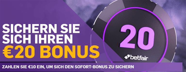 betfair Poker Bonus als Neukunde nutzen
