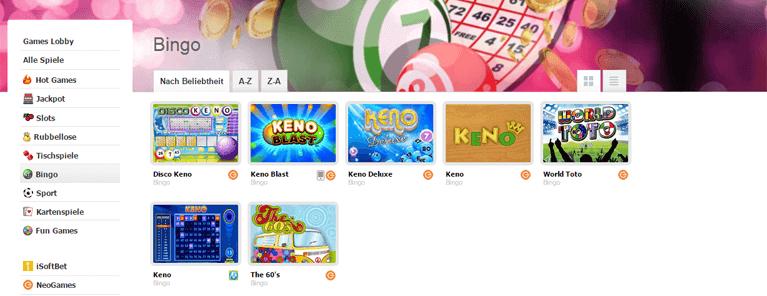 Attraktives Bingo Angebot bei Interwetten