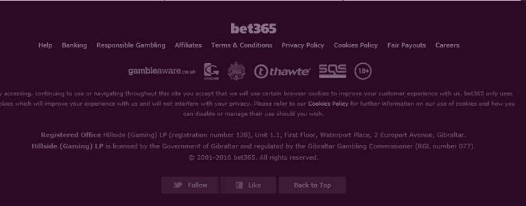 Seriosität garantieren die bet365 Bingo-Lizenzen