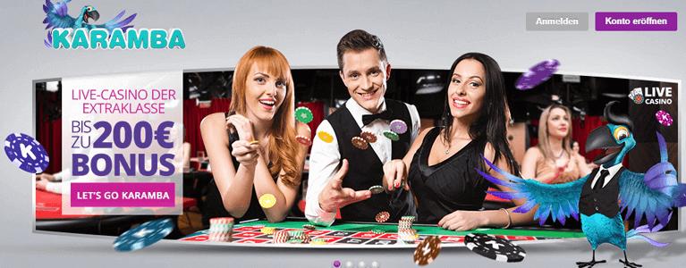 Karamba Slots Live-Casino