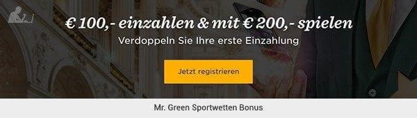 Mr Green Bonus Code Sportwetten