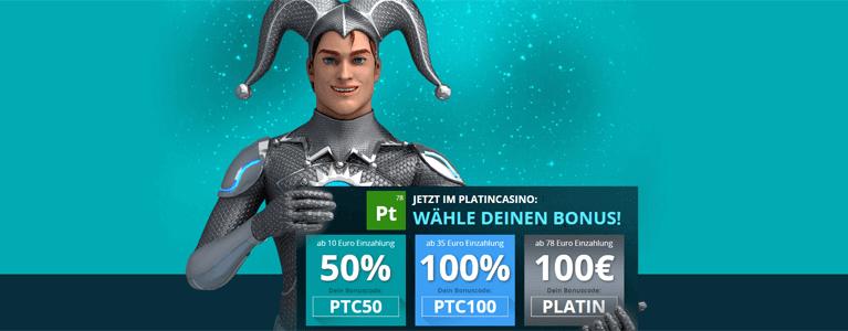Platin Casino Bonus nutzen