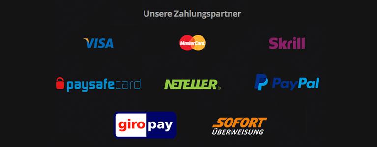 Super Gaminator Zahlungsmethoden