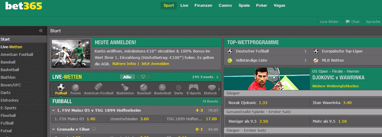 bet365 PayPal Wette Live