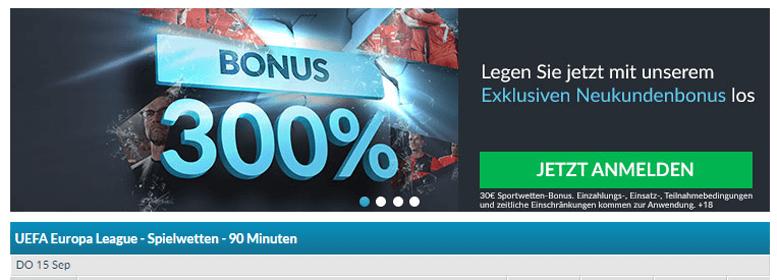 BetVictor PayPal Bonus gratis 300%