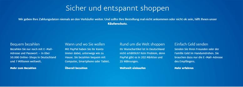 Vorteile PayPal