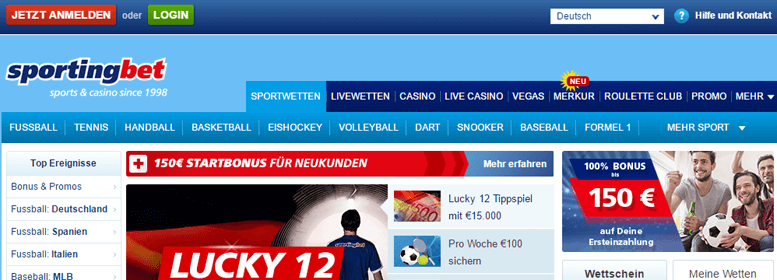 sportingbet PayPal Wette Live