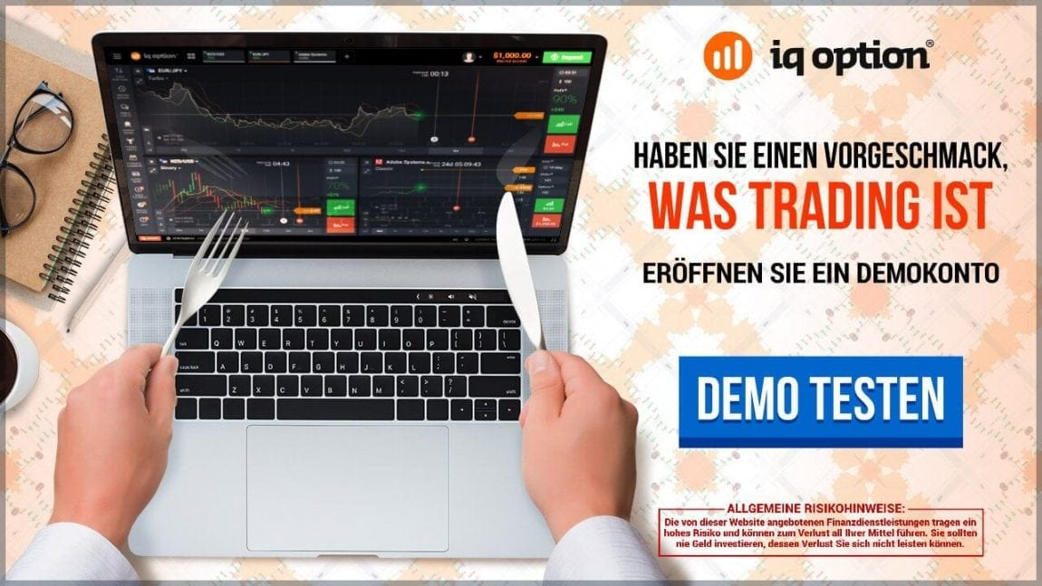 Trader können bei IQ Option ein zeitlich unbefristetes Demokonto nutzen