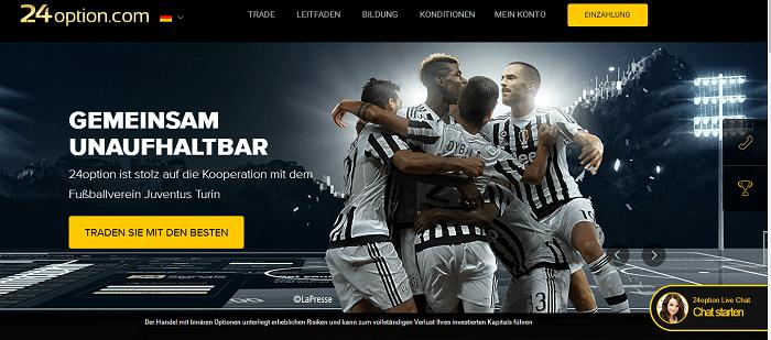 24option Kooperation mit Juventus Turin