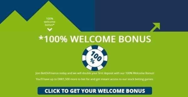 BetOn Finance - 100 Prozent Welcome Bonus