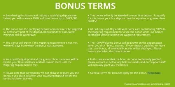 BetOn Finance BonusTerms