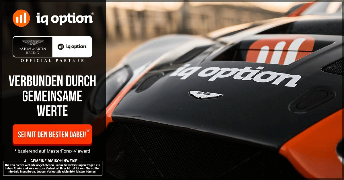IQ Option - offizieller Partner von Aston Martin