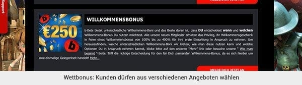b-bets Sportwetten Bonus
