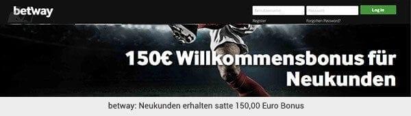 betway Sportwetten Bonus